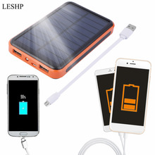 LESHP 12000mAh Waterproof Portable Solar Power Bank Dual USB Solar Charger for Smartphone Hot Sale  in stock!!!