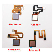 Buy Fingerprint Scanner Xiaomi Redmi 3 3S Note 3 Note3 Pro Note 4 Touch Sensor ID Home Button Return Assembly Flex Cable Ribbon for $3.47 in AliExpress store