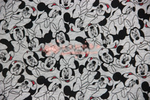 50*170cm Minnie elasticity Elasticity terry cotton knitting fabric For Sewing diy Patchwork baby girl shirt clothes skirt(China)