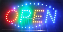 2017 hot sale super brightly customized led light sign led open sign billboard 10*19 Inch semi-outdoor free shipping