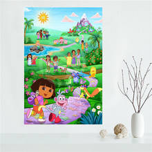 E#627L20 Custom Oriental Furniture Dora Canvas Painting Wall Silk Poster cloth print DIY Fabric Poster free shipping Y19(China)
