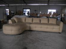 Modern home furniture living room leather sofa genuine leather sectional sofa set Chaise sofa triple seat leather sofa