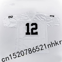Retro star 12# Ken Stabler Embroidered Name&Number Throwback Football Jersey White(China)