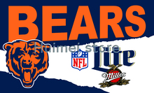 Football league Chicago Bears advertising flag with metal Grommets 3ftx5ft Chicago Bears flag banner(China)