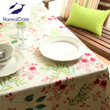 Flower Table Cloth Striped Table Runner Cotton Linen Tablecloth Round Table Square Coffee Table Cover Towel
