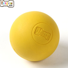 Natural Rubber solid Elastic Pet Dog Ball Toys Bite Resistant Training Balls Pets Dogs Toy for Puppy Small Large Dog(China)