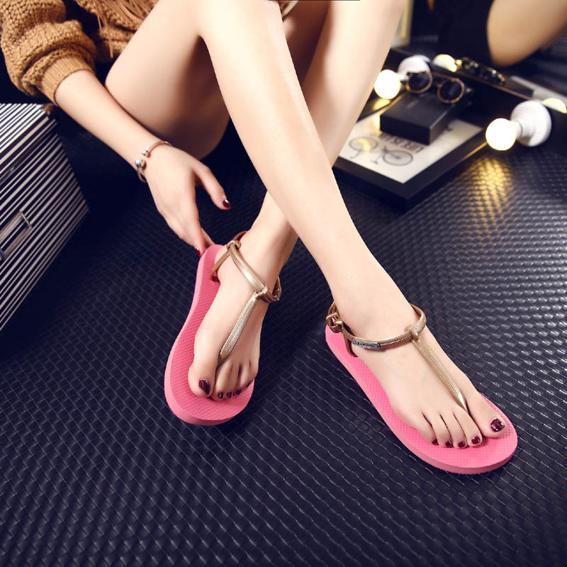 Small Exquisite Fashion Flip Flops Casual Lighted Women Sandals Outdoor Beautiful Good Wear Open-toe Sandals For Women<br><br>Aliexpress
