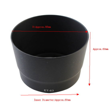 Black ET-63 Bayonet Lens Hood Shade For Canon EF-S 55-250mm f/4-5.6 IS STM High Quality