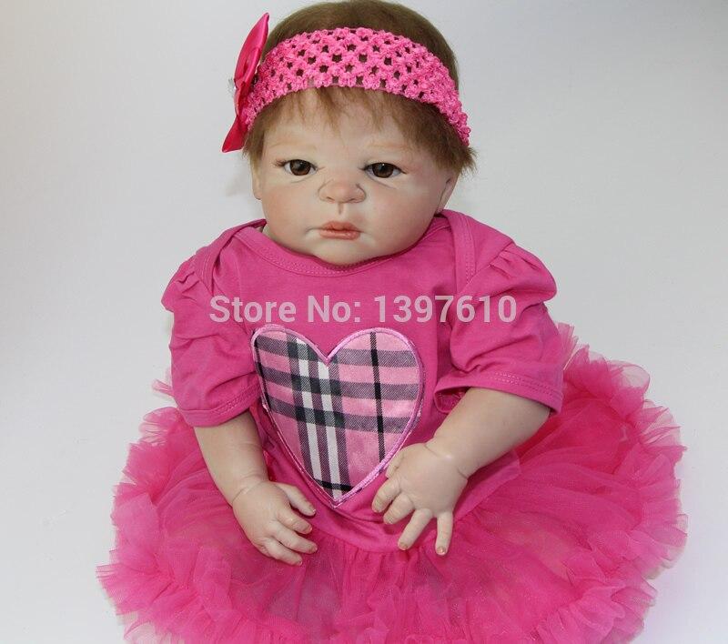 NPK 23 Inch Full Silicone Vinyl Lifelike Baby Reborns Handmade Babies Doll Collectible Lovely Reborn Girls Kids Xmas Gift<br><br>Aliexpress