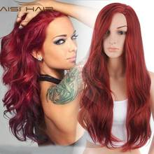 "Synthetic Wigs for Women Red Female Wig Hair Wigs for Women Jenner Women's Wigs 26"" Long Wavy Curly Hair Style"
