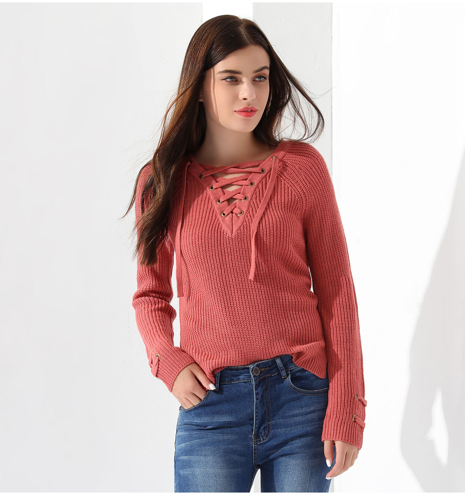 Women's Pullover Long Sleeve KnittedSweater 30