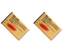 2pcs/lot 2450mAh BL-5C BL5C BL 5C Gold Replacement Battery For Nokia 5030 5130 6030 6085 6086 6108 6130 6130i 6225 6230i ect(China)