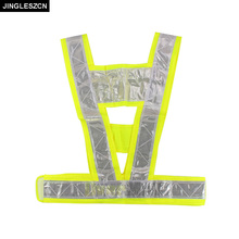 JINGLESZCN Security Jacket Safety Vest Warning For Traffic Reflective Vest Fluorescent Yellow Work Wear Uniforms Outdoor Clothes(China)