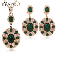 AYAYOO Round Bridal Jewelry Sets Earrings Necklace Famous Women High Quality Dubai African Printing Nickel New Party Accessories