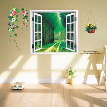 PVC Removable Wall Stickers Wallpaper Woods Living Room Bedroom Wedding Room TV Wall Stickers