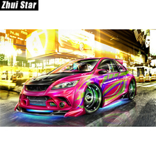 "New Full Square Diamond 5D DIY Diamond Painting ""Sports car"" Embroidery Cross Stitch Rhinestone Mosaic Painting Home Decor"