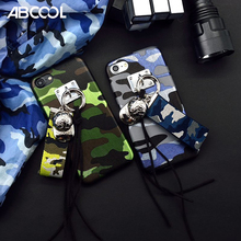 ABCOOL Brand 2017 luxury Camouflage baseball cap lanyard  Rivets Silicone Couple phone case cover For iPhone 7 7 Plus 6 6S Plus