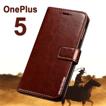 One Plus Five 5 case cover leather Royal wallet case for OnePlus5 Phone case Crazy Horse Five Oneplus 5 A5000 case 1 Plus 5 1+5(China)