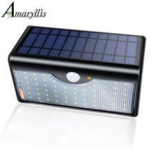 Newest 60 LED Solar Lamp Five Modes With Indicator Lights Solar Power Lights For Outdoor Garden Wall IP65 Waterproof(China)
