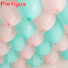Tiffany Blue Latex Balloons 20pcs 10inch Thicken 2.2g Birthday Party Decor Wedding Party Ballons Light Pink Matte Color Globos