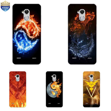 For ZTE Blade V7 Lite Phone Case For ZTE Axon 7 A2017 / 7 Mini Cover For ZTE Blade A1 C880U Shell Soft TPU Gossip Fire Design