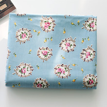 160cm*50cm chic floral blue Cotton fabric 100% cotton clothes bedding quilt table cloth curtain sewing fabric tissue tecido(China)