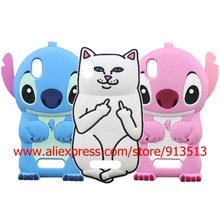 Hot Selling Lord Nermal Pocket Cat Stitch 3D Silicone Phone Cover Case For ZTE Blade X3 / D2