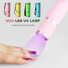 HNM 9W Nail Dryer Mini LED Flashlight UV Lamp Portable for Nail Gel 1pcs Dryer Curing Lamp Manicure(China)