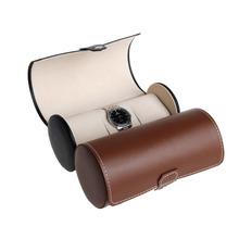 1 PC 3 Slots Watch Display Case Faux PU Leather Roll Box Storage Collector Organizer Black/Brown