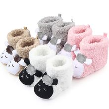 1 Pair 2017 Fashion Winter Warm Cute Panda Animal Style Baby Boots Fleece Cotton-padded Shoes 0-18 Month Infant Toddler Shoes