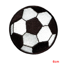 Football Soccer Ball Sport Athletic Embroidered Customized Iron On Applique Patches For Jackets,Clothing