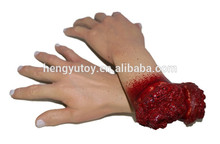 Newest Mascaras Halloween Latex Realistic  Body Part Scary Horror Bloody Hands Props