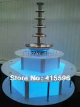 LED Display Base illuminated Surround 16 Colorful Change For Chocolate Fountain + Free Shipping