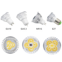 10pcs Dimmable LED Lamp E27 220V 110V GU5.3 Lampada LED Spotlight GU10 3W 4W 5W 85-265V MR16 DC 12V Spot Luz LED Bulbs Lighting(China)