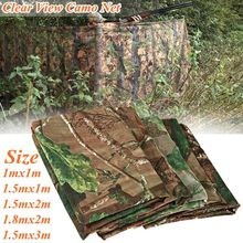 Multifunction Clear View Camo Net Hide Netting Birds Decoy Hunting Woodland Camping Military Camouflage Netting Mesh 5 Size