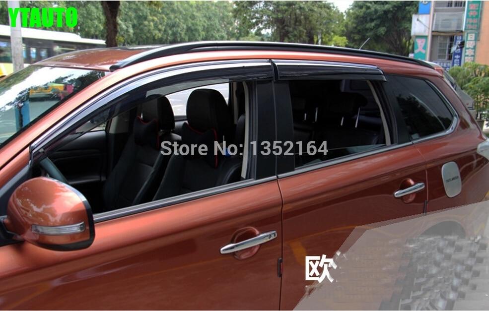 Auto rain shield window visor ,window deflector sun visor for Outlander 2013<br>