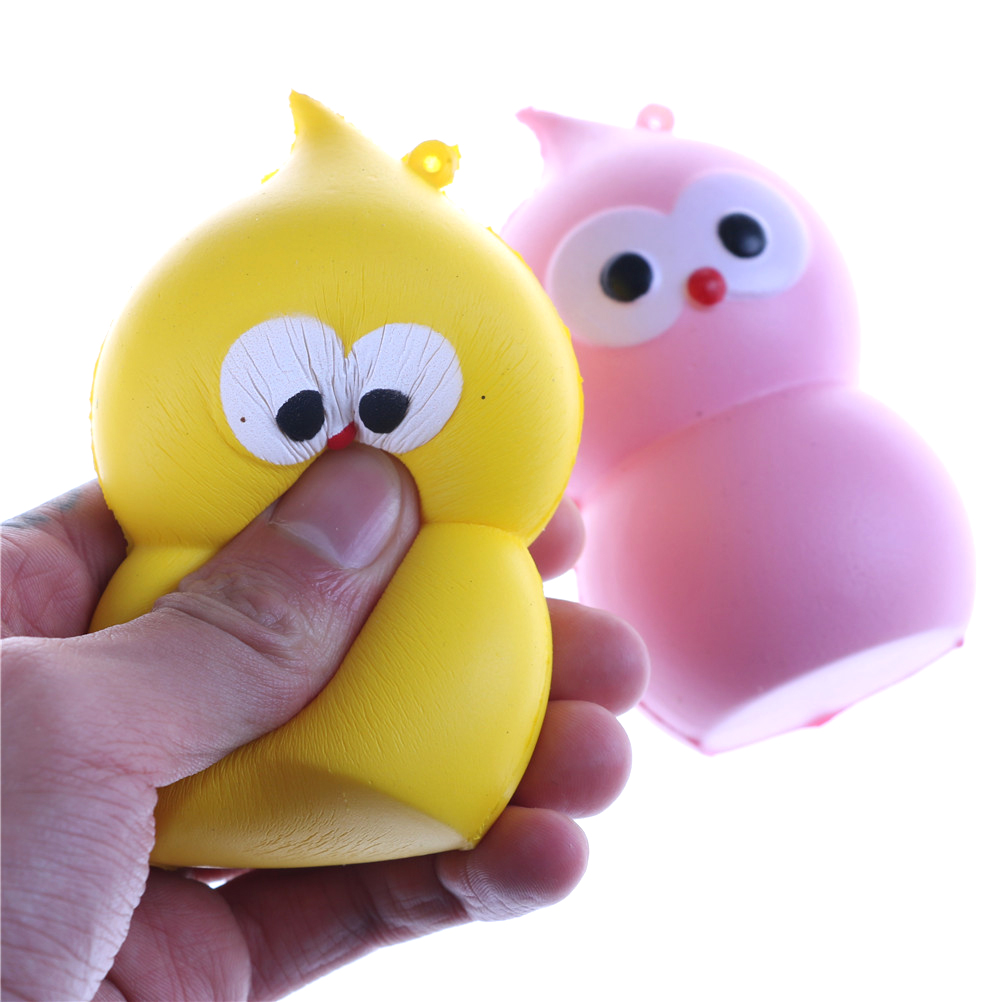 Squishy 9.5CM Jumbo Gourd Bird Slow Rising kawaii Slow Rising Stress ball Stress Reliever Autism  Charm Kid Toys Gift Doll