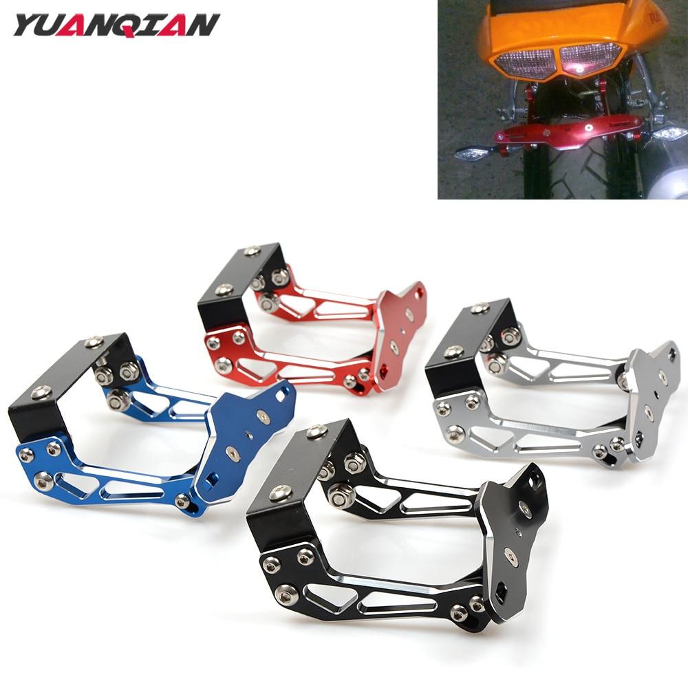 Universal Motorbike License Plate Bracket Holder For Honda GROM MSX125 MSX 125 PCX 125 150 CB600F CBR 600 F4i RC51 CBR650F CB919<br>