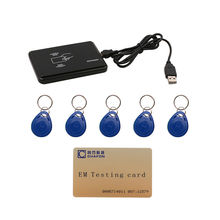 125khz RFID ID EM Card Reader & Writer&Copier/Duplicator( T5557/ EM4305 / 4200 ) with 5pcs key tag for Access Control(China)