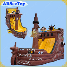 Good Quality Inflatable Pirate Ship Water Slide with Pool,PVC Tarpaulin Material Bounce House