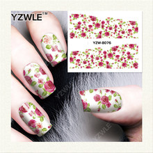 YZWLE 1 Sheet DIY Decals Nails Art Water Transfer Printing Stickers Accessories For Manicure Salon  YZW-8076