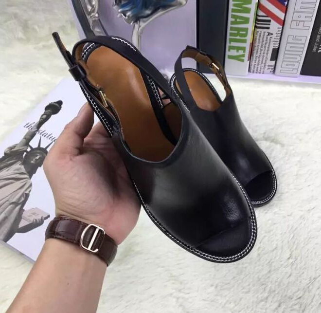Summer Sandals Women S Shoes Large Size Black Chains High Heels Genuine Leather Designer Pumps Y Platform Slippers In From On