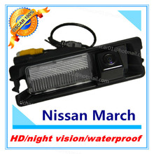Free shipping night version CCD rear view camera waterproof parking camera for Nissan March Renault Logan Renault Sandero Car(China)