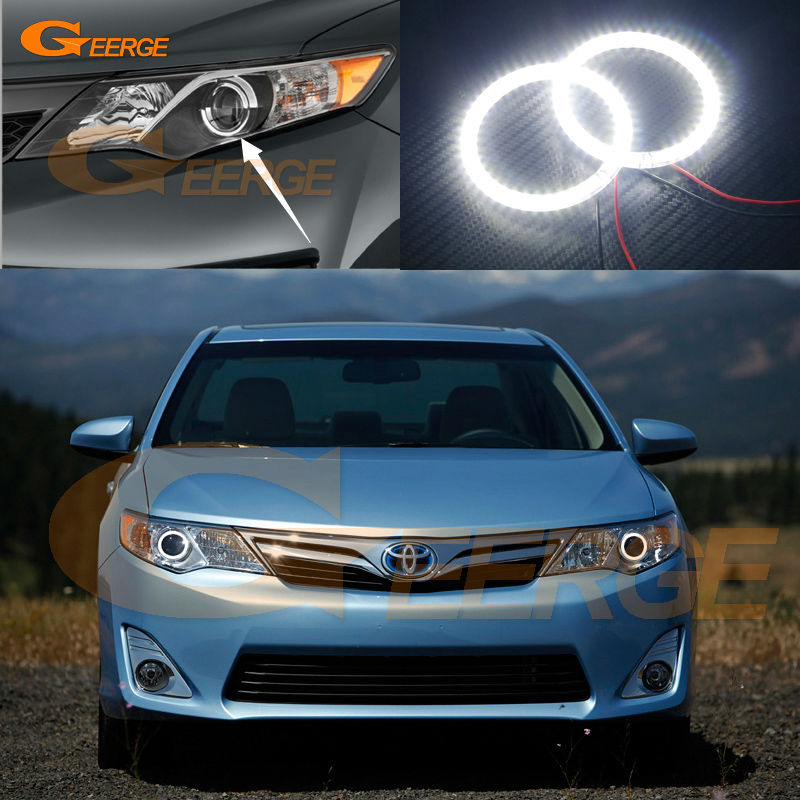 For Toyota Camry 2012 2013 2014 SE Daihatsu Altis Excellent Ultra bright illumination smd led Angel Eyes Halo Ring kit<br>