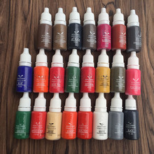 Small 3-5ml PRO Tattoo Ink Pigment for Permanent Makeup Eyebrow Eyeliner Lip Body Tattoo Art (23 Colors for Choosing)