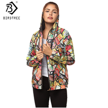 Women Autumn Coat Print Cartnoon Hooded Loose Short Jackets Long Sleeves Outer Wear Female Coats & Jackets New Arrival C7O813A(China)