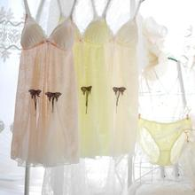 100% real Photo High Quality New Arrival Fairy Sexy Cute Lolita Kawaii Butterfly  Princess Bra Babydoll intimate Lingerie gown