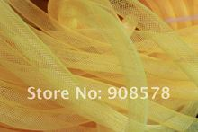 Yellow 16mm Tubular Crin - Large - diameter used to make cyberlox hair extensions 60yard(China)