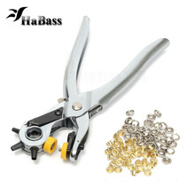 3 inch 1 Multi-function Portable Leather Puncher Heavy Duty Hole Punch Hand Pliers Belt Holes Punches Handheld Tongs