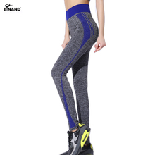 BINAND Stretch Stripe High Waist Slim Sports Pants High Elastic Quick Dry Yoga Tights Fitness Gym Running Exercise Trousers(China)